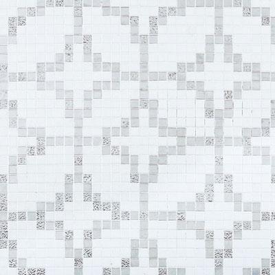 Bisazza Mosaico Decori 20 - Etoiles Oro Bianco Tile & Stone