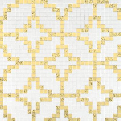 Bisazza Mosaico Decori 20 - Etoiles Oro Giallo Tile & Stone