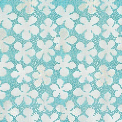 Bisazza Mosaico Decori 20 - Glass Flowers Blue Tile & Stone