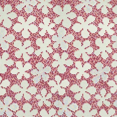 Bisazza Mosaico Decori 20 - Glass Flowers New Pink Tile & Stone
