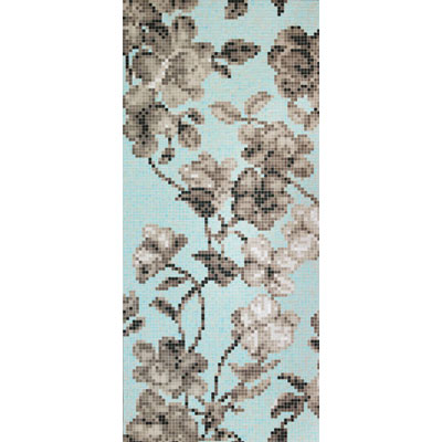 Bisazza Mosaico Decori 20 - Hanami Azzurro A Tile & Stone