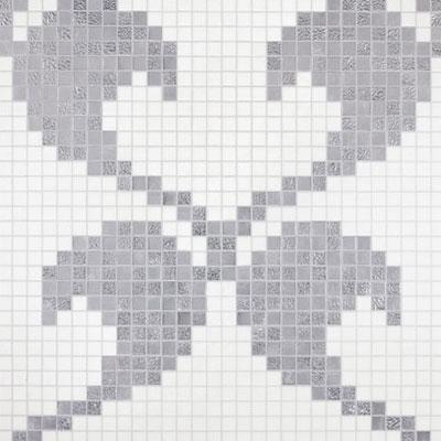 Bisazza Mosaico Decori 20 - Hearts Oro Bianco Tile & Stone