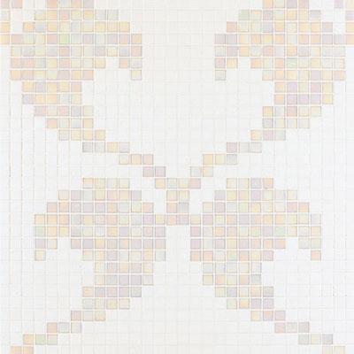 Bisazza Mosaico Decori 20 - Hearts White Tile & Stone