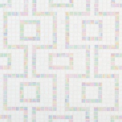 Bisazza Mosaico Decori 20 - Labirinto Bianco Tile & Stone