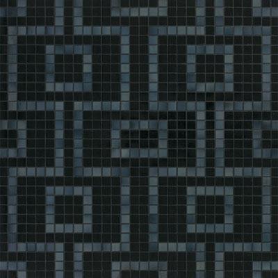 Bisazza Mosaico Decori 20 - Labirinto Nero Tile & Stone