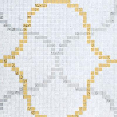 Bisazza Mosaico Decori 20 - Liaisons Bianco Tile & Stone