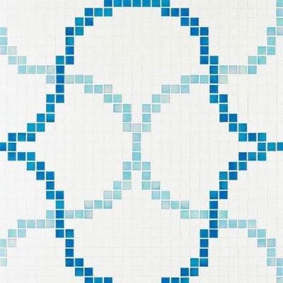 Bisazza Mosaico Decori 20 - Liaisons Blue Tile & Stone
