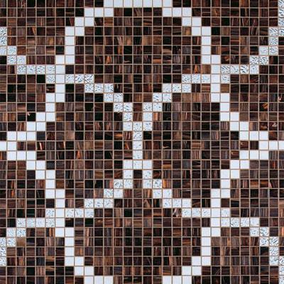 Bisazza Mosaico Decori 20 - Liaisons Marron Tile & Stone