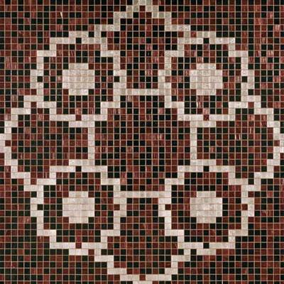 Bisazza Mosaico Decori 20 - Linear de Rosas Marron Tile & Stone