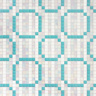 Bisazza Mosaico Decori 20 - Rings Blue Tile & Stone