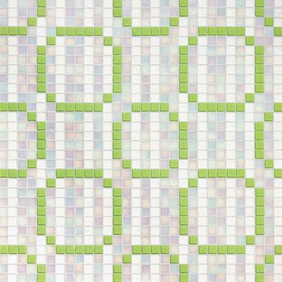 Bisazza Mosaico Decori 20 - Rings Green Tile & Stone
