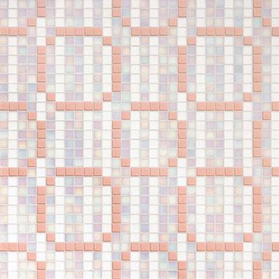 Bisazza Mosaico Decori 20 - Rings Pink Tile & Stone