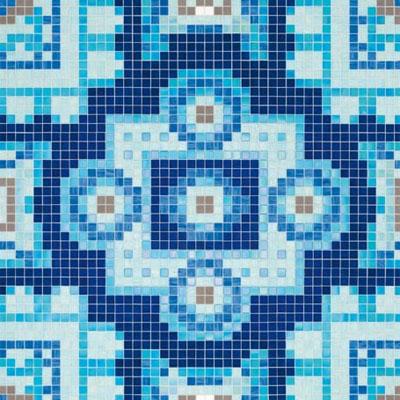 Bisazza Mosaico Decori 20 - Silk Blue Tile & Stone
