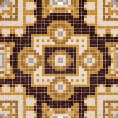 Bisazza Mosaico Decori 20 - Silk Brown Tile & Stone