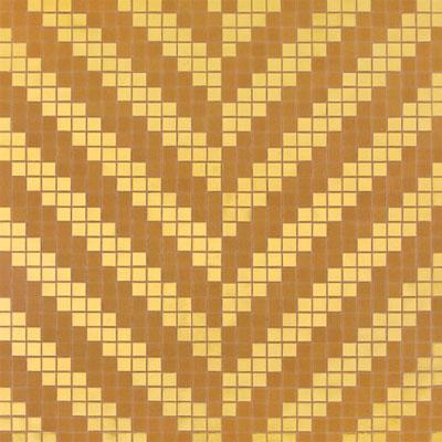 Bisazza Mosaico Decori 20 - Twill Oro Giallo Tile & Stone