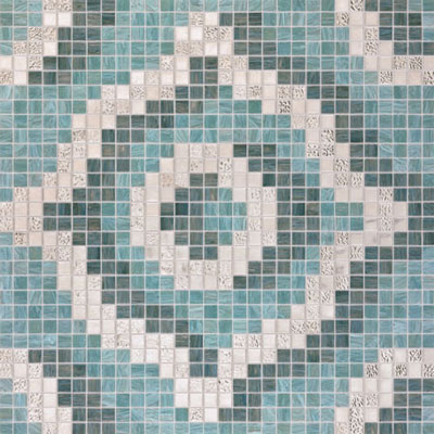 Bisazza Mosaico Decori 20 - Velvet Grey Oro Bianco Tile & Stone