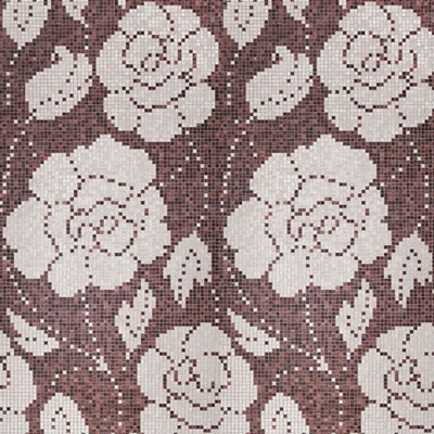 Bisazza Mosaico Decori 20 - Winter Flowers Oro Nero Tile & Stone