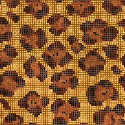 Bisazza Mosaico Decori Opus Romano - Animal Leopard Tile & Stone