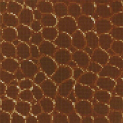 Bisazza Mosaico Decori Opus Romano - Crocodile Brown Tile & Stone