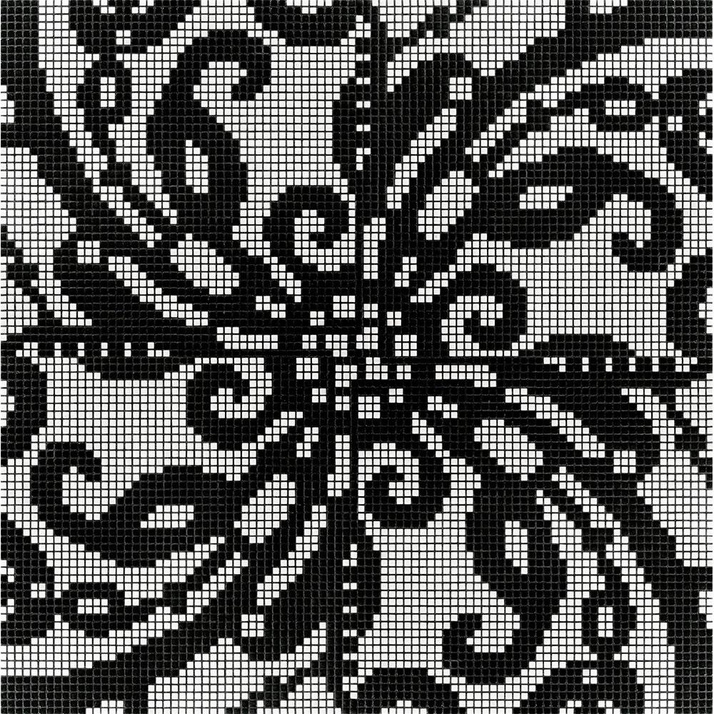 Bisazza Mosaico Decori Opus Romano - Embroidery Black Tile & Stone