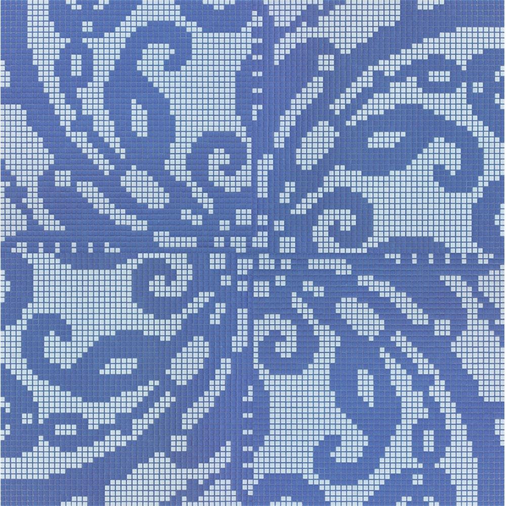 Bisazza Mosaico Decori Opus Romano - Embroidery Blue Tile & Stone