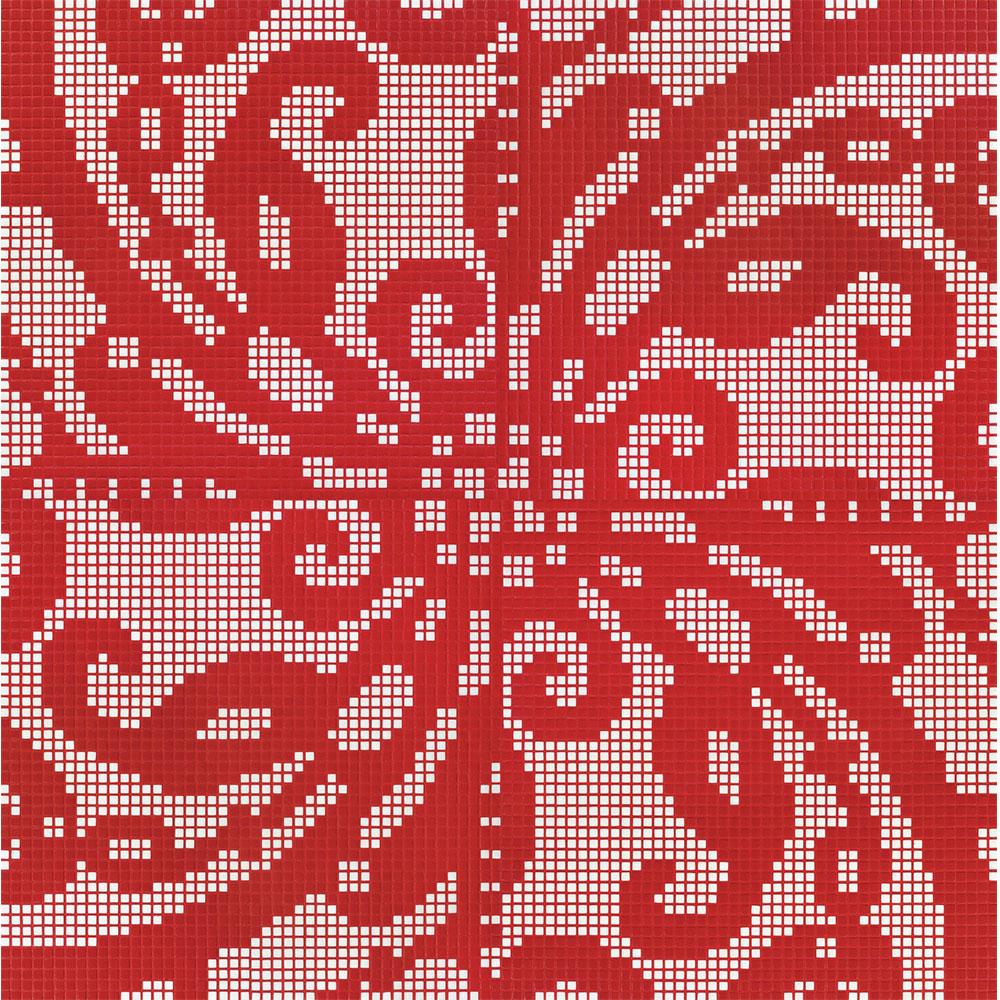 Bisazza Mosaico Decori Opus Romano - Embroidery Red Tile & Stone
