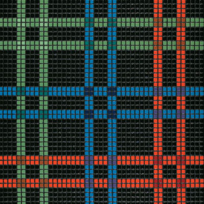 Bisazza Mosaico Decori Opus Romano - Kilt Black Tile & Stone