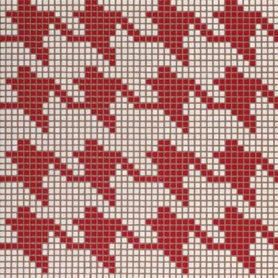 Bisazza Mosaico Decori Opus Romano - Pied De Poule Rosso Tile & Stone