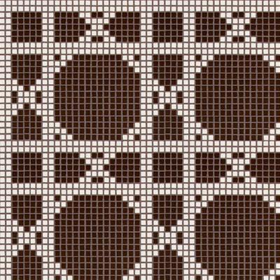 Bisazza Mosaico Decori Opus Romano - Vienna Marrone Tile & Stone