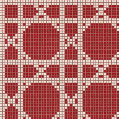 Bisazza Mosaico Decori Opus Romano - Vienna Rosso Tile & Stone