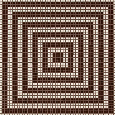 Bisazza Mosaico Decori Opus Romano - Wenge Marrone Tile & Stone