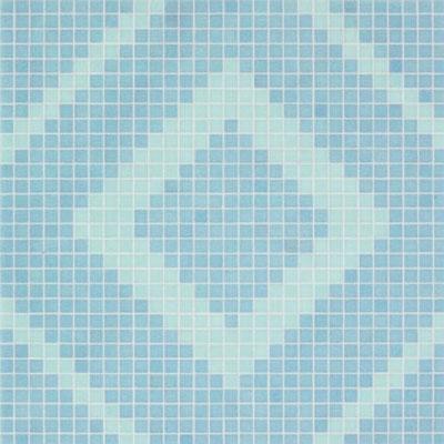 Bisazza Mosaico Decori VTC 20 - Frames Blue Tile & Stone