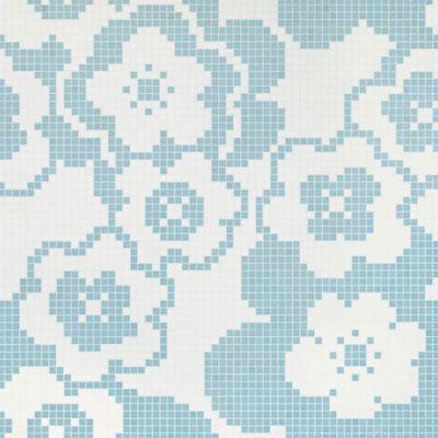 Bisazza Mosaico Decori VTC 20 - Garden Blue Tile & Stone