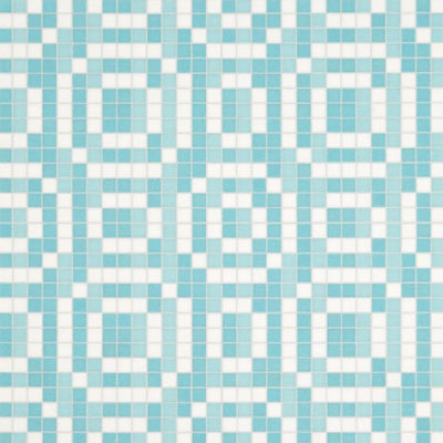 Bisazza Mosaico Decori VTC 20 - Stamps Blue Tile & Stone