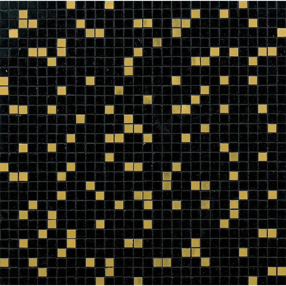 Bisazza Mosaico Miscela 10 Prince Black Tile & Stone