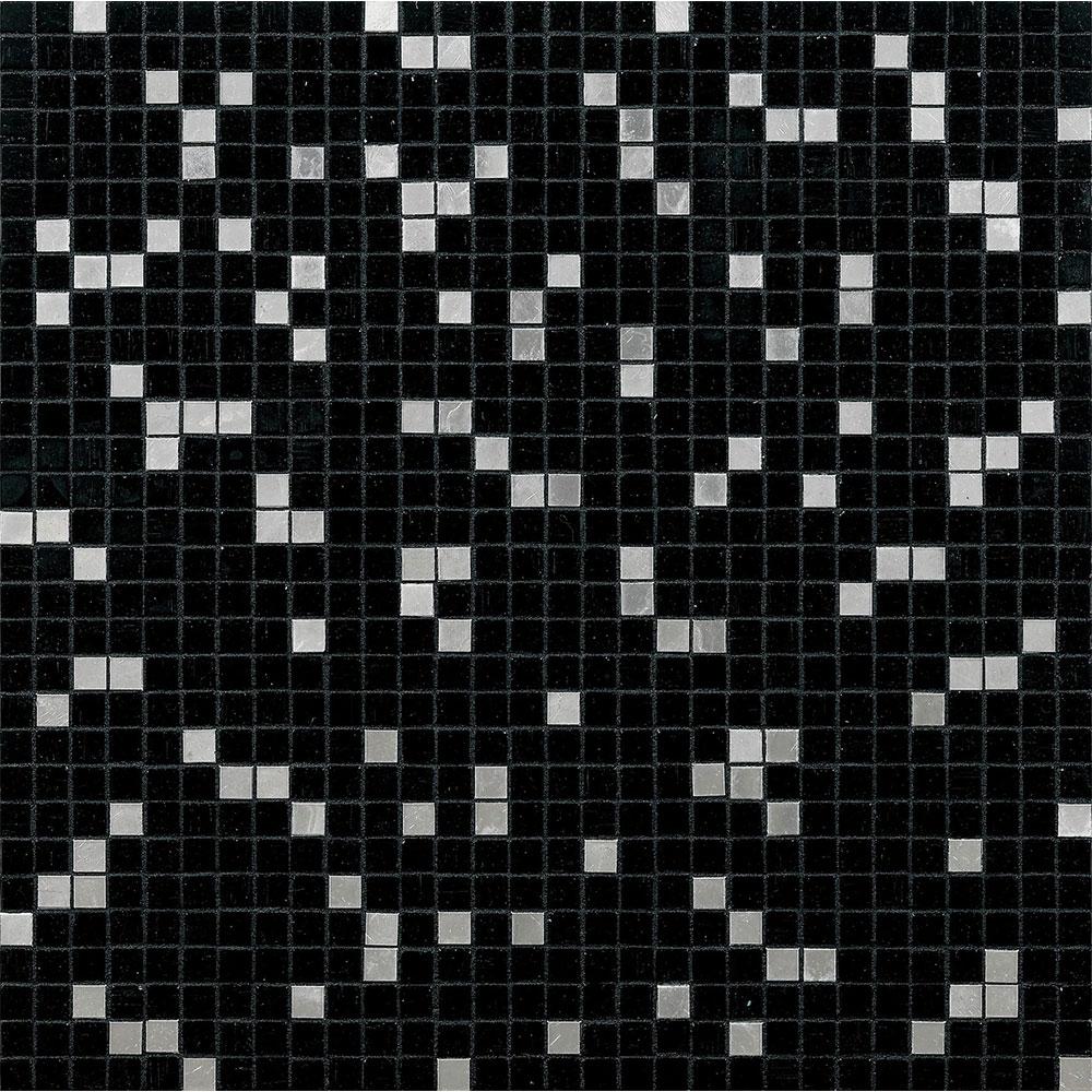 Bisazza Mosaico Miscela 10 Princess Black Tile & Stone