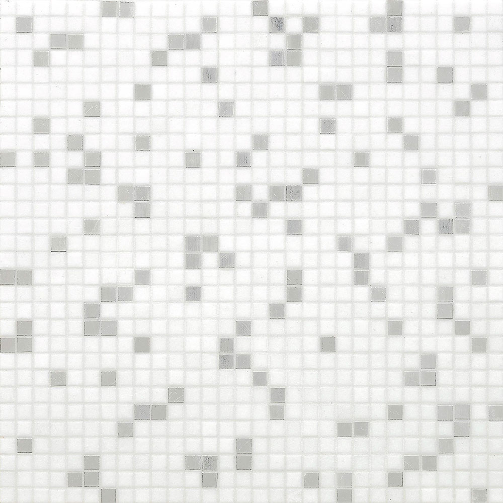 Bisazza Mosaico Miscela 10 Princess White Tile & Stone