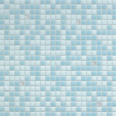 Bisazza Mosaico Opus Romano Mixes with Gold 12mm Azzurra Oro Tile & Stone