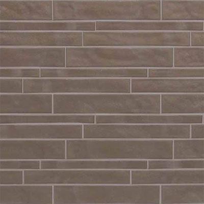 Casa Dolce Casa Vetro Neutra Listello Sfalsato Lux Tortora Tile & Stone