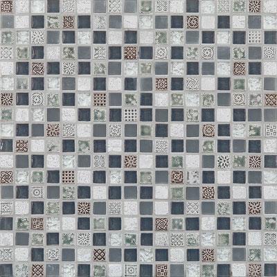 Casa Italia Antica Roma Mosaic Silver Tile & Stone