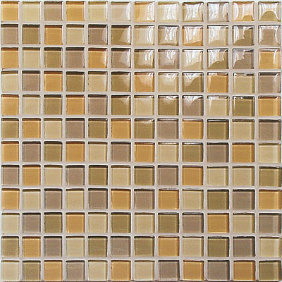 Casa Italia Crystal-C Trasparenze Glossy Mosaic Beige Tile & Stone