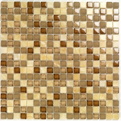 Casa Italia Pure & Natural Mosaic Glossy Onix Brown (07200004) Tile & Stone