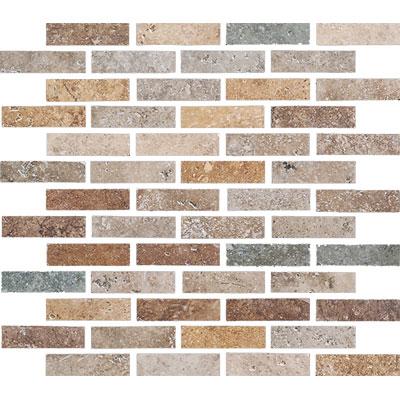 Cerdomus Kairos Mosaics 12 x 12 3x1 Mix Scuro Mosaic Tile & Stone