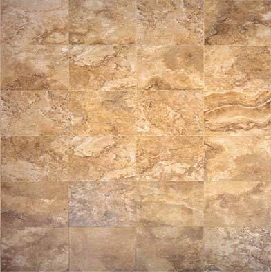 Chesapeake Flooring Digital Travertine Ceramic Floor 16 x 24 Gold Tile & Stone