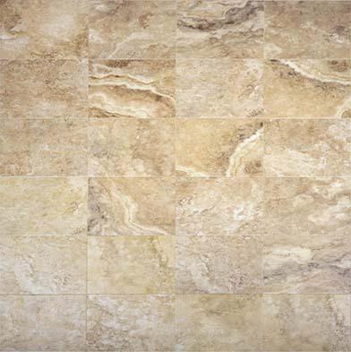 Chesapeake Flooring Digital Travertine Ceramic Floor 16 x 16 Walnut Tile & Stone