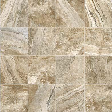 Chesapeake Flooring Mikonos Glazed Porcelain Floor 20 x 20 Caramel Tile & Stone