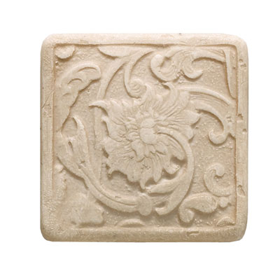 Daltile Arabesque Decos and Inserts Crema Fabrege Insert Tile & Stone