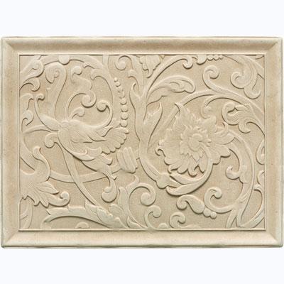 Daltile Arabesque Decos and Inserts Crema Fabrege Mural Tile & Stone