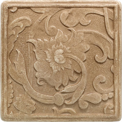 Daltile Arabesque Decos and Inserts Sienna Fabrege Deco Tile & Stone