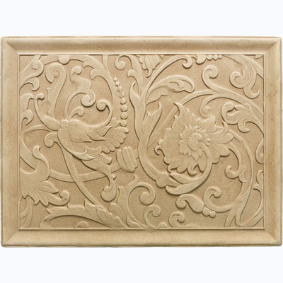 Daltile Arabesque Decos and Inserts Sienna Fabrege Mural Tile & Stone